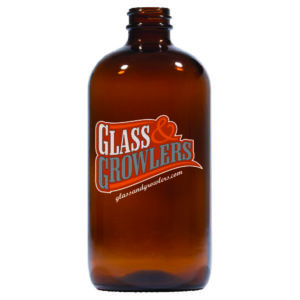 16oz Boston Round Growler - Amber