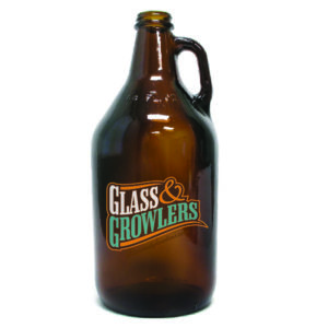 32oz Amber Growler with Handle