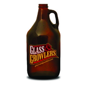 64 oz Amber Growler with Handle