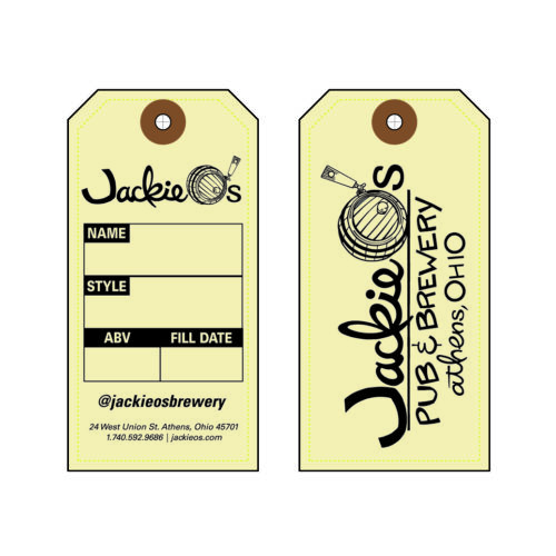 Growler Tag with 2 Side Printed