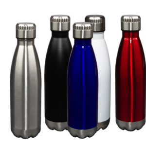 Glacier WC030047 - 17oz Stainless Steel Vacuum Insulated Bottle w/ Copper Liner and Screw-On Cap