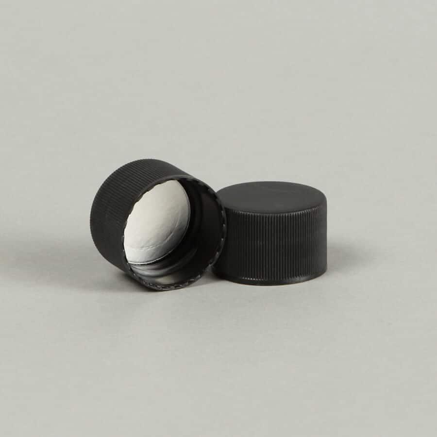 PET 32oz Growler 28-410 Black Plastic Cap