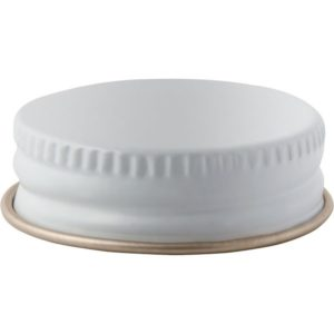 Growlette Cap 33-400 White Metal 32 oz Bostons