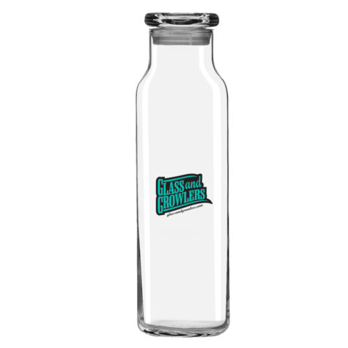 Libbey 728 - 22oz Glass Swerve Bottle-Including Lid