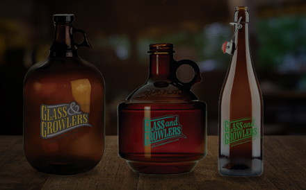 Image of three different types of Growlers