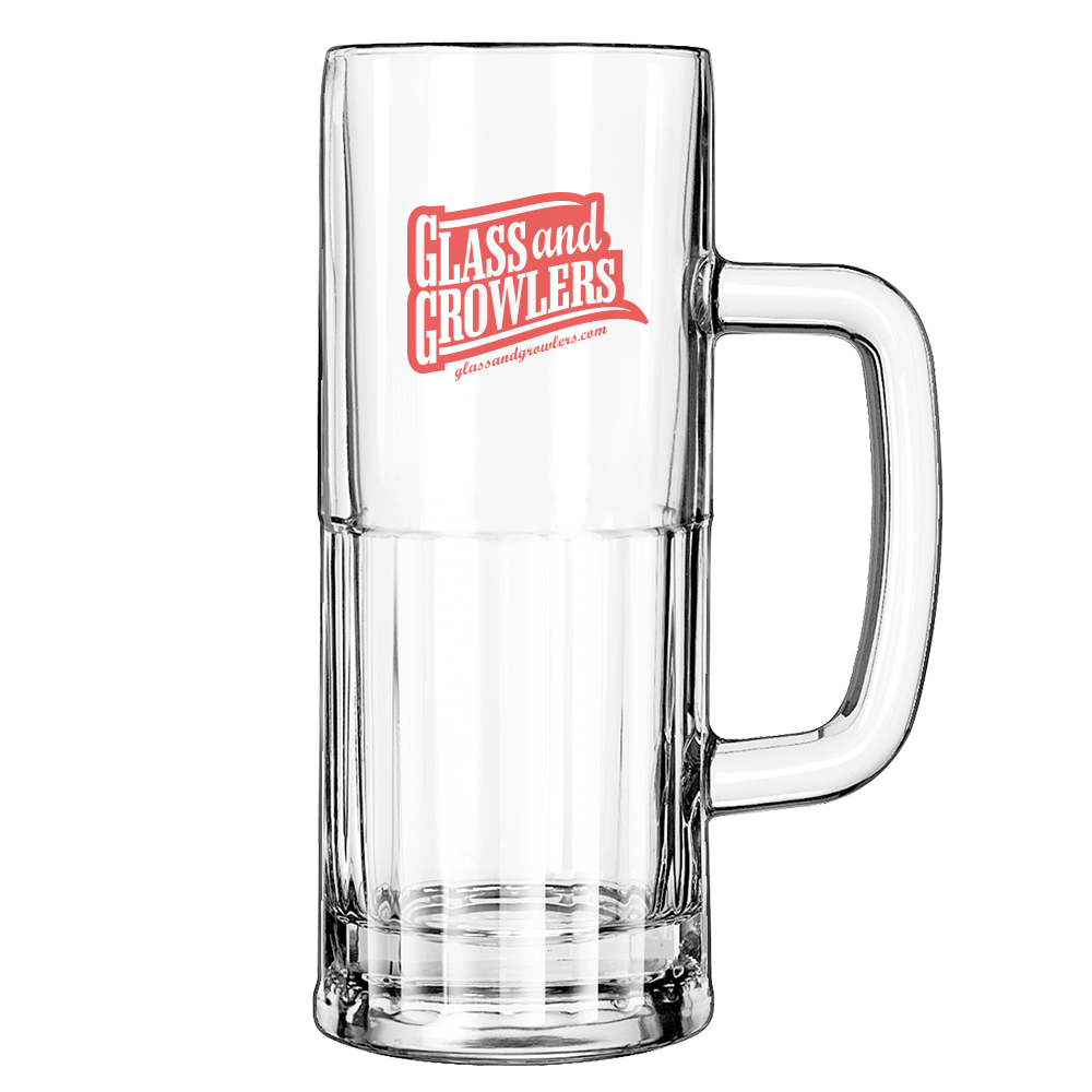 22oz Beer Mug - Tall English Pub Glasses
