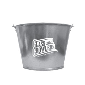 5 Qt Galvanized Metal Buckets Custom Printed