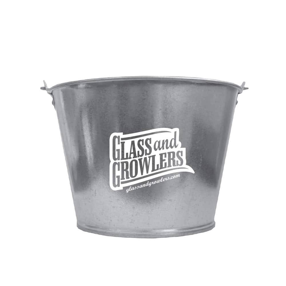 5 Qt Galvanized Metal Buckets Custom Printed