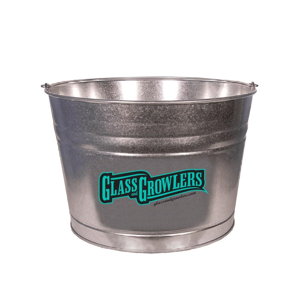 4.25 Gallon Galvenized Metal Bucket