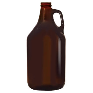 64 oz Blank Amber Growlers
