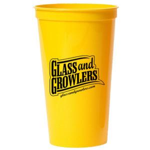 32 oz Yellow Smooth Stadium Cups