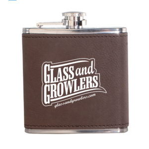 Leatherette Wrapped 6 Oz Stainless Steel Hip Flasks